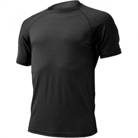 T-Shirt noir Merino 160 g
